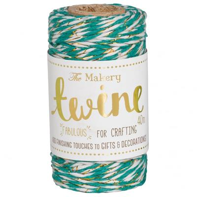 twine turquoise & gold