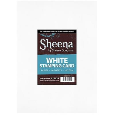 5 White Stamping Cardstocks Sheena Douglass, A4, 300g
