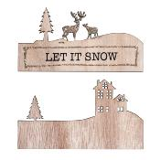 "Déco bois ""Let it Snow"""