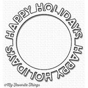 "Die cercle ""happy holidays"