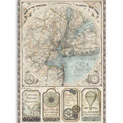 Papier de riz<br>map of New York - Sir Vagabond